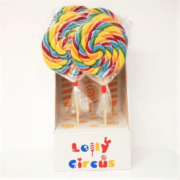 XXL-Lollies in Spiralform mit Himbeergeschmack
