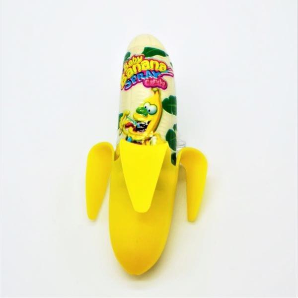 Fruchtiger Pump-Spray mit Bananengeschmack im Bananen-Optik
