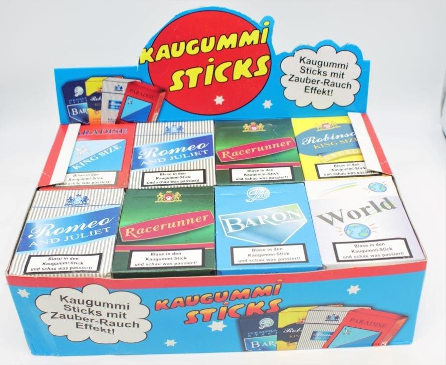 Kaugummi-Sticks mit Rauch-Effekt im Retro-Still Packerl von Drop Shop Schwandtner