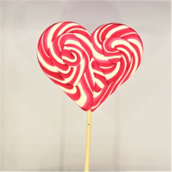 XXL Lollipop in Herzform mit Himbeergeschmack