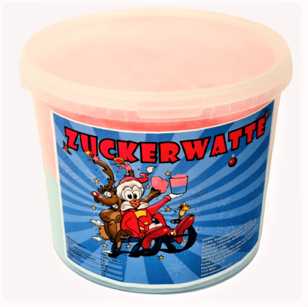 Bunte Zuckerwatte im Küberl, hangemacht von Dop Shop Schwandtner