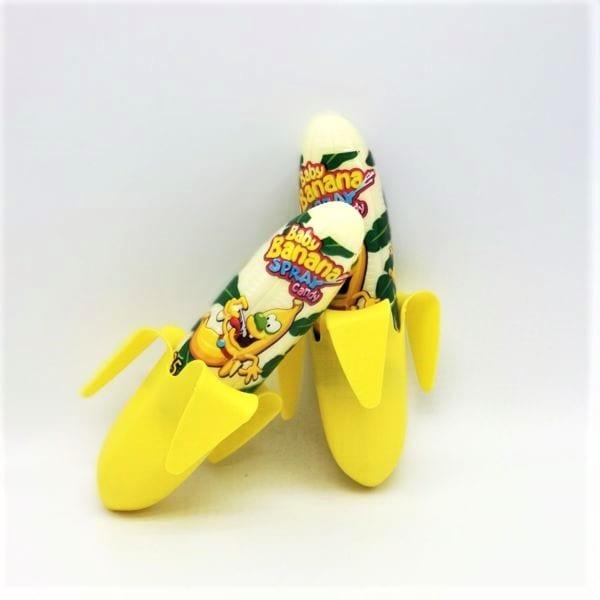 Baby-Banana-Sprays im Wld-West-Still im coolen Bahnenenschalen Holster