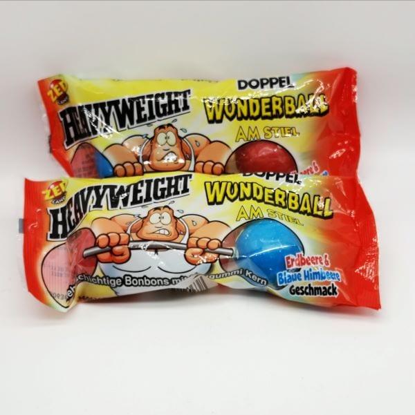 Heavywight Doppel-Lutscher mit Kaugummi-kern von Drop Shop Schwandtner