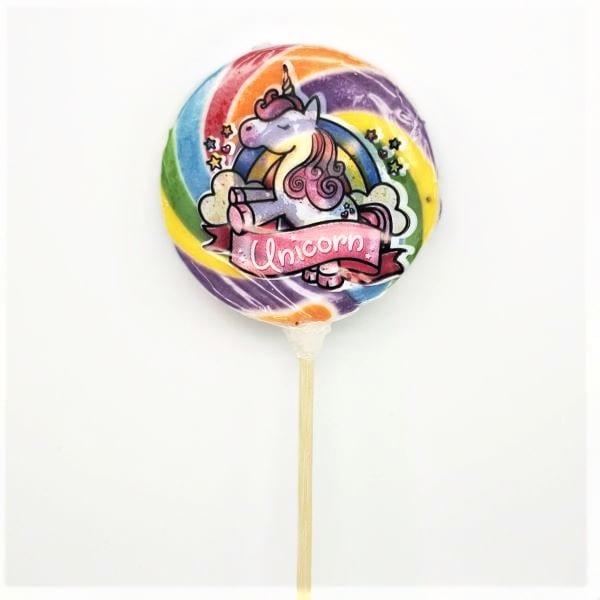 Lollipop in Spiralform mit Einhorn-Motiv von Drop Shop Schwandtner