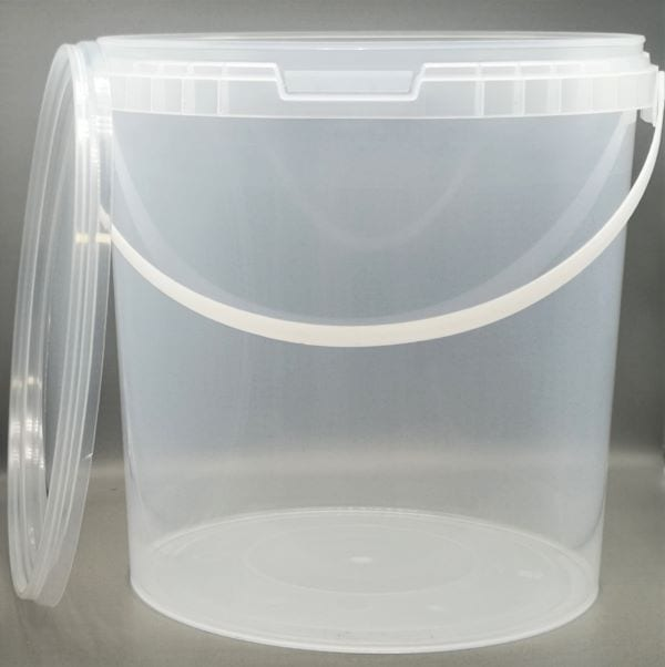 Transparenter 10,8 l Kunststoff-Kübel von Drop Shop Schwandtner