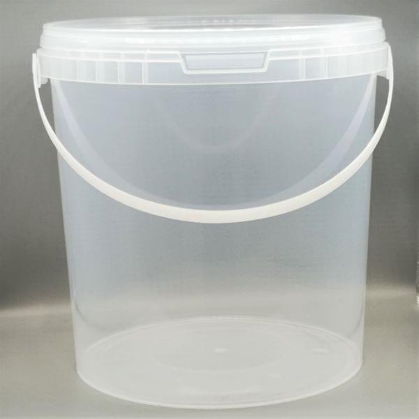 Transparenter 10.8 l Kunststoff-Kübel von Drop Shop Schwandtner