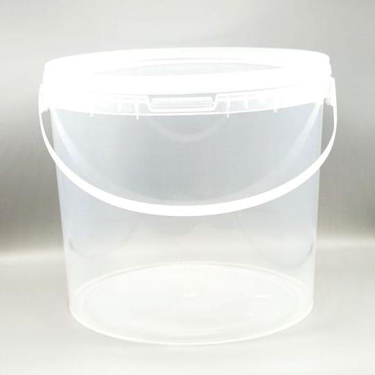 Transparenter 5 l Kunststoff-Kübel von Drop Shop Schwandtner