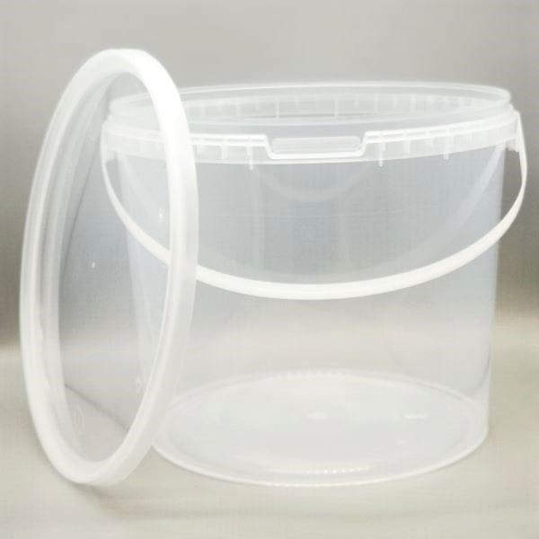 Transparenter 5,5l Kunststoff-Kübel von Drop Shop Schwandtner