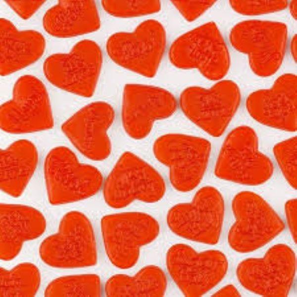 Fruchtgummi Herzen mit Liebesbotschaft von Drop Shop Schwandtner